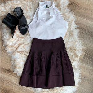 A.L.C. Knit Plum mini skirt